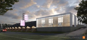 Proposed design of the new Arts and Heritage Center